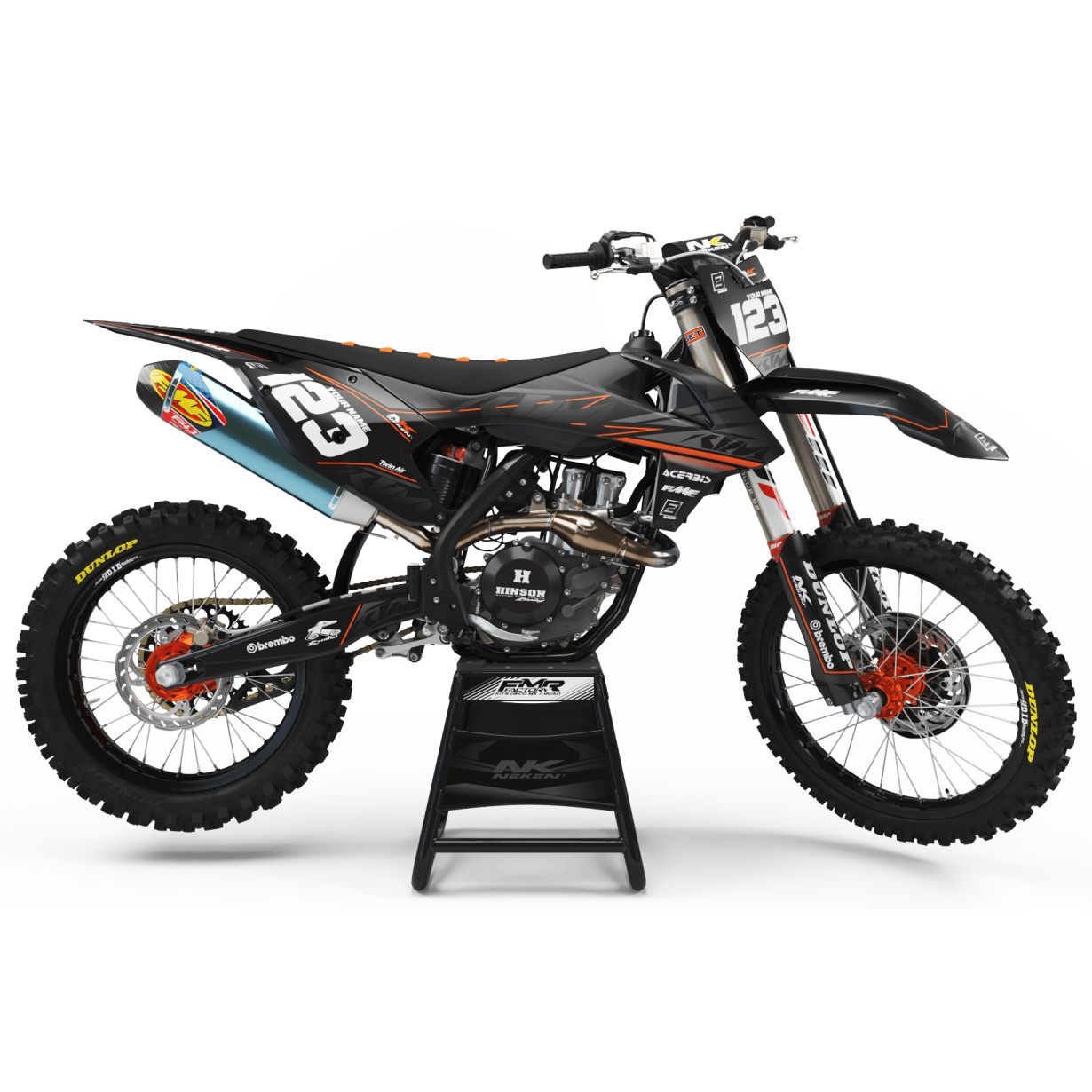 Kit déco Perso ktm FACTORY NEKEN BLACK MATE MA31C