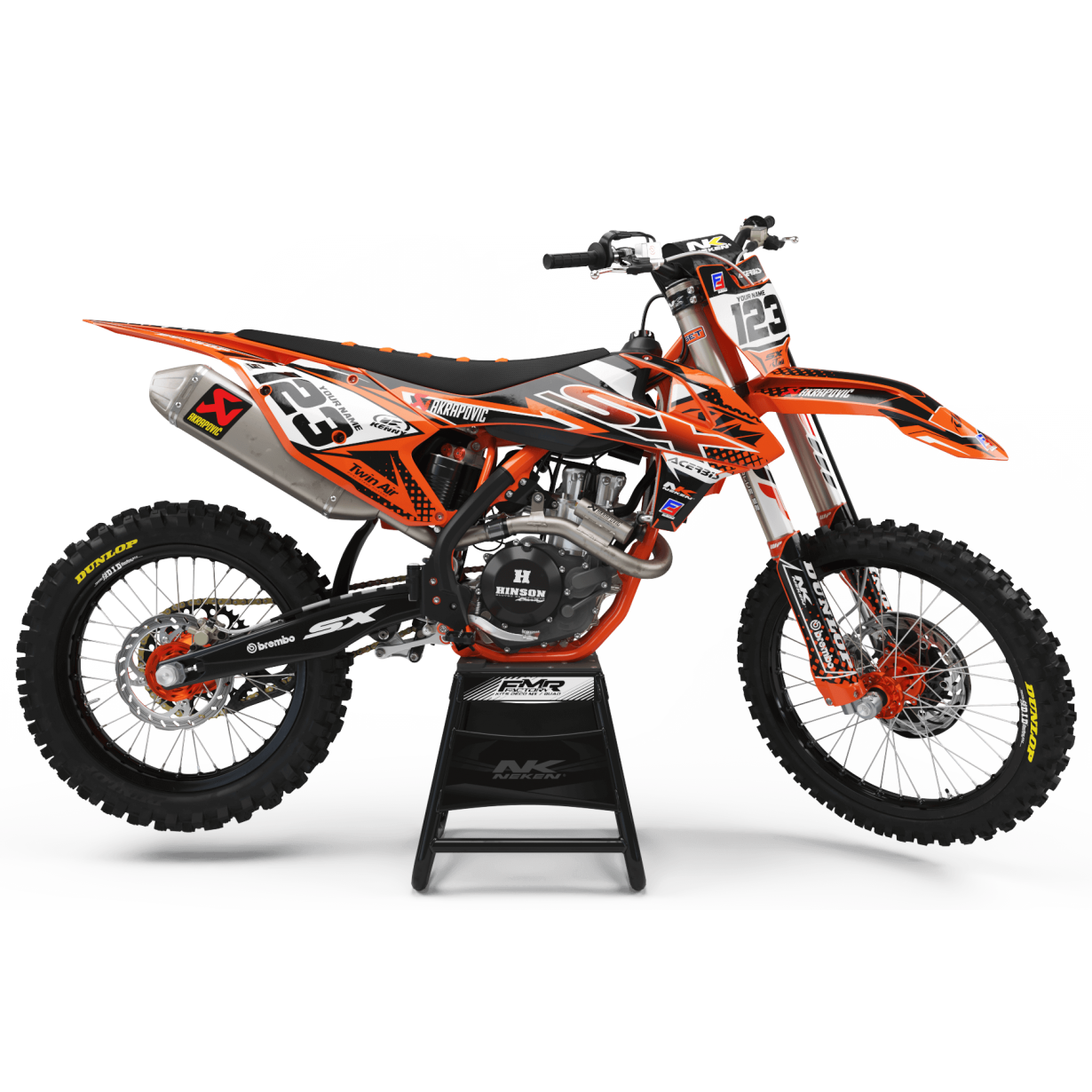 Kit déco Perso FACTORY ktm ENERGY MA33C orange