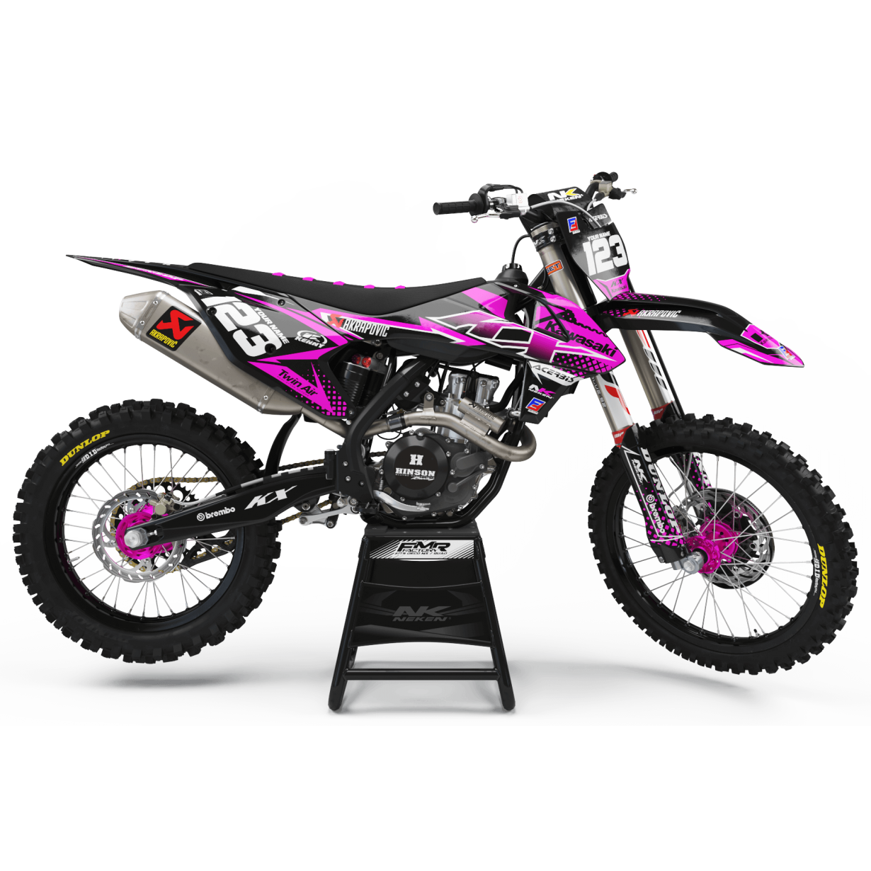 Kit déco Perso FACTORY kawasaki ENERGY MA33B3 rose