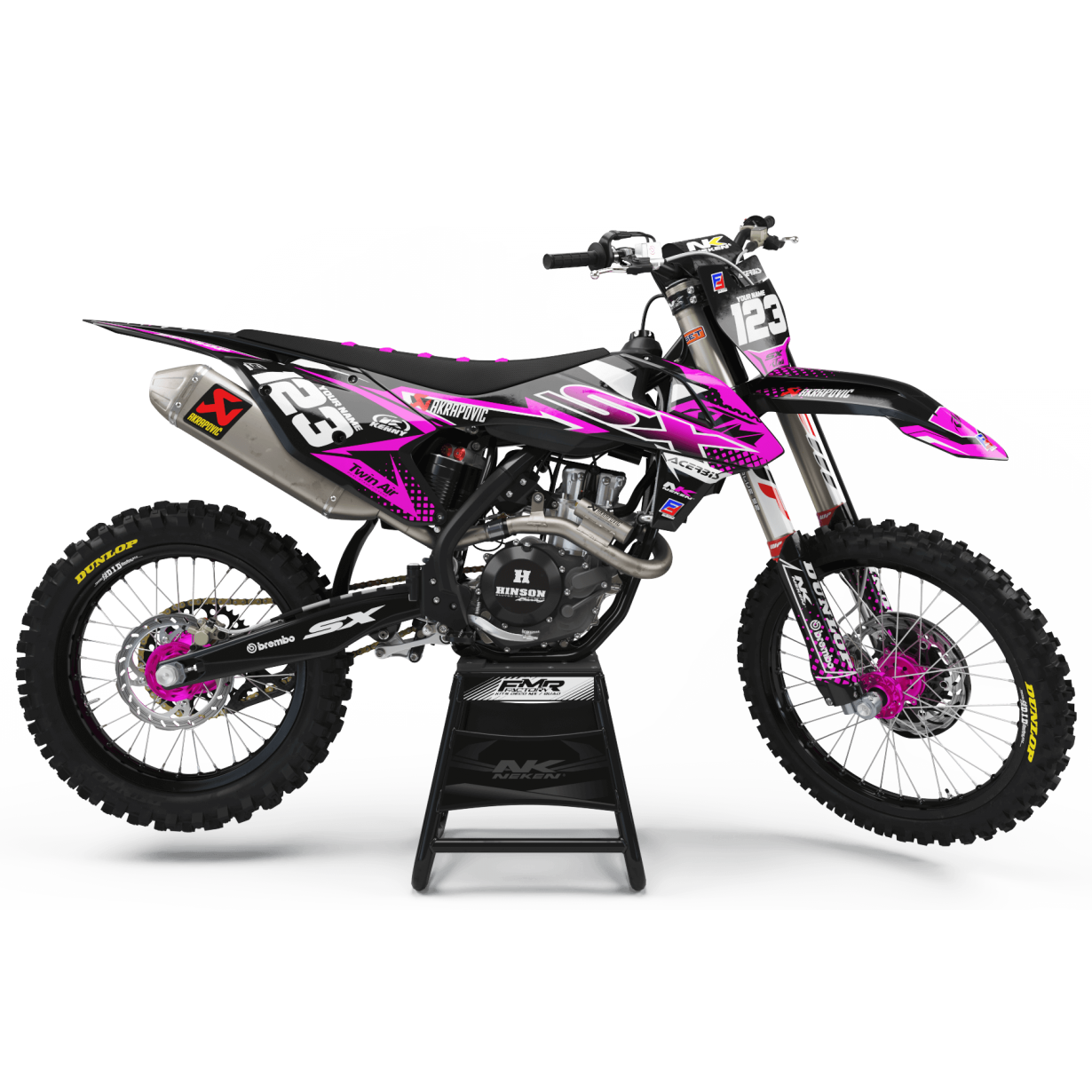 Kit déco Perso FACTORY ktm ENERGY MA33C3 rose