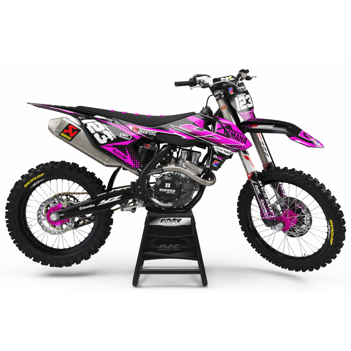 Kit déco Perso FACTORY yamaha ENERGY MA33E3 rose