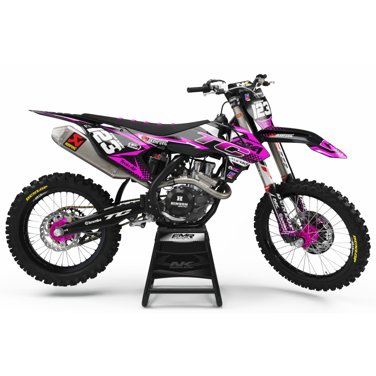 Kit déco Perso FACTORY Husqvarna ENERGY MA33I3 rose
