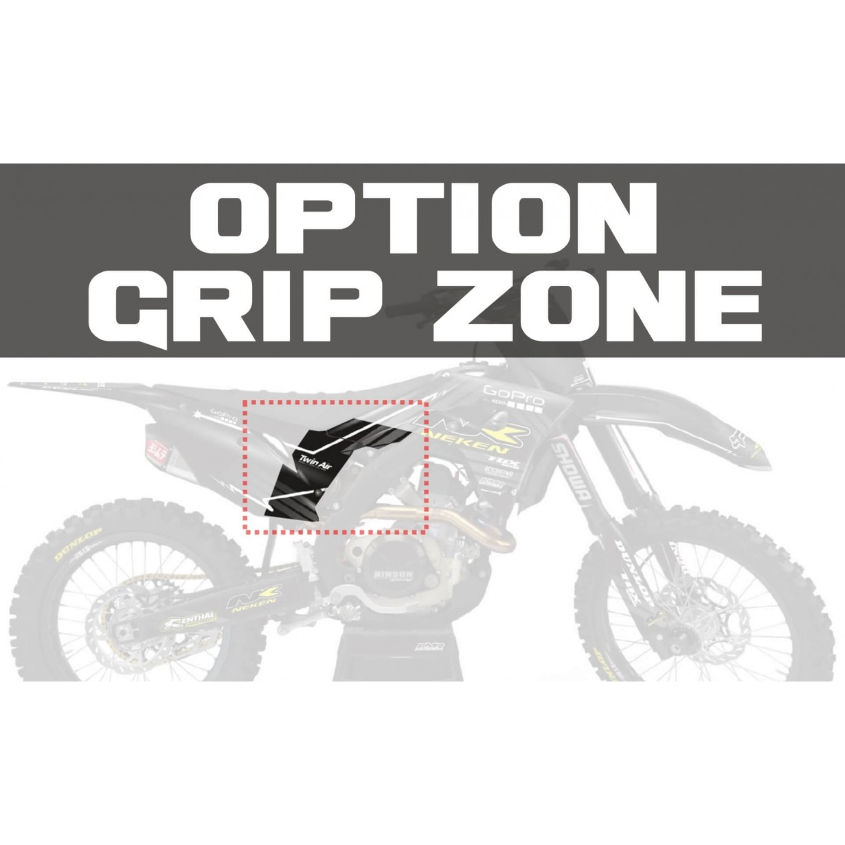 Option GRIP Zone Transparent