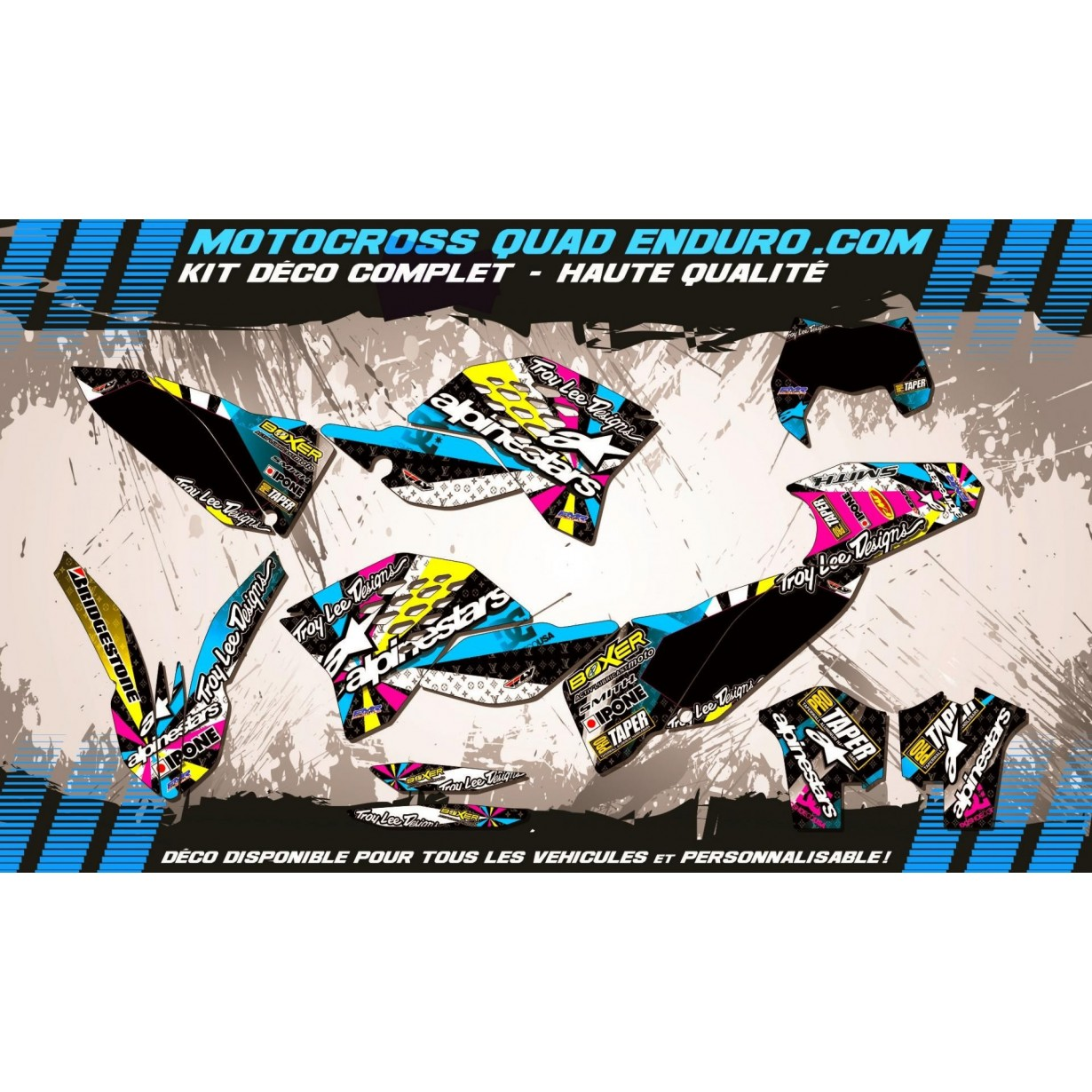 KIT DÉCO Perso EXC 08-11 ALPINESTARS MA4A