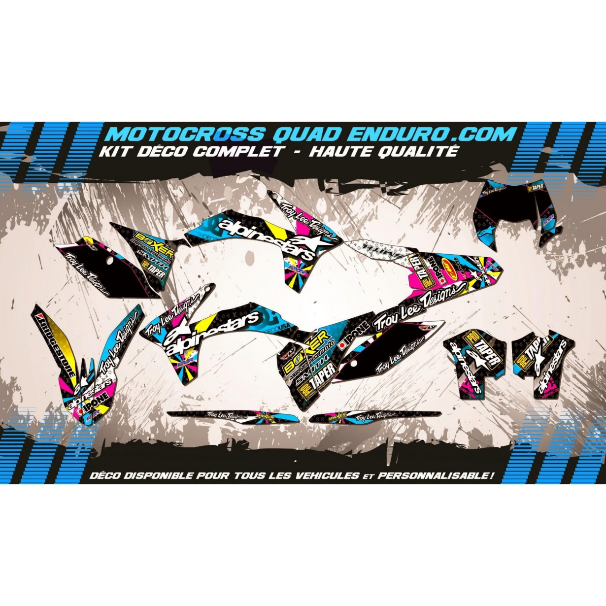 KIT DÉCO Perso EXC 12-13 ALPINESTARS MA4A