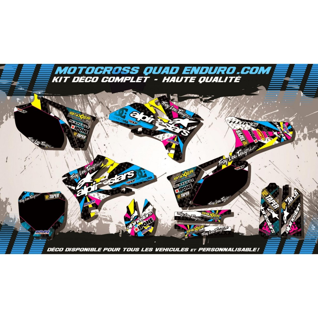 KIT DÉCO Perso 250 /450 YZF 03-05 ALPINESTARS MA4A