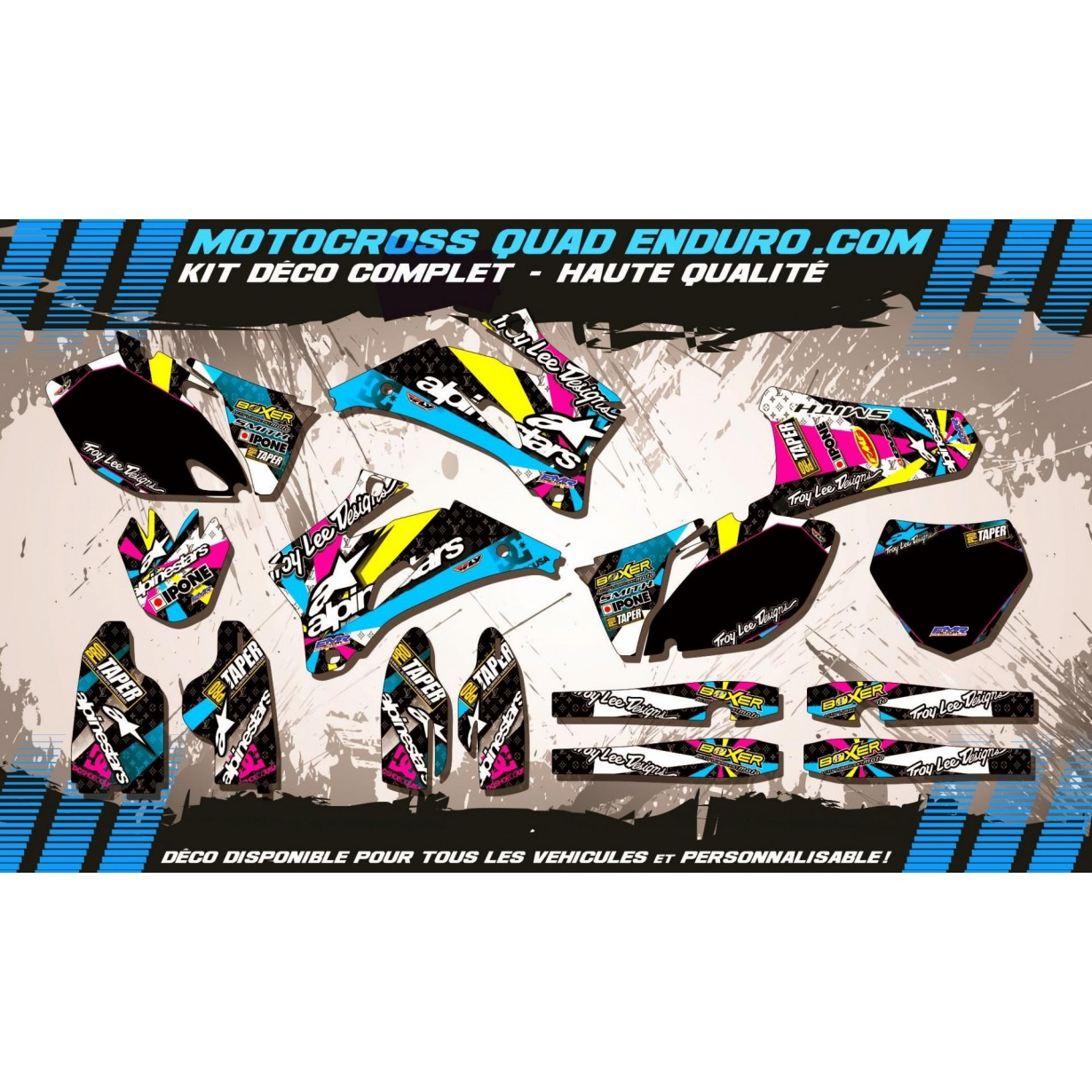 KIT DÉCO Perso 250 / 450 YZF 06-09 ALPINESTARS MA4A