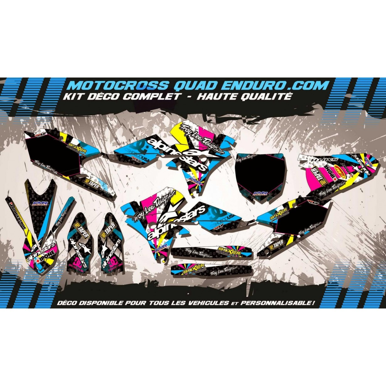 KIT DÉCO Perso 250 YZF 14-15 ALPINESTARS MA4A