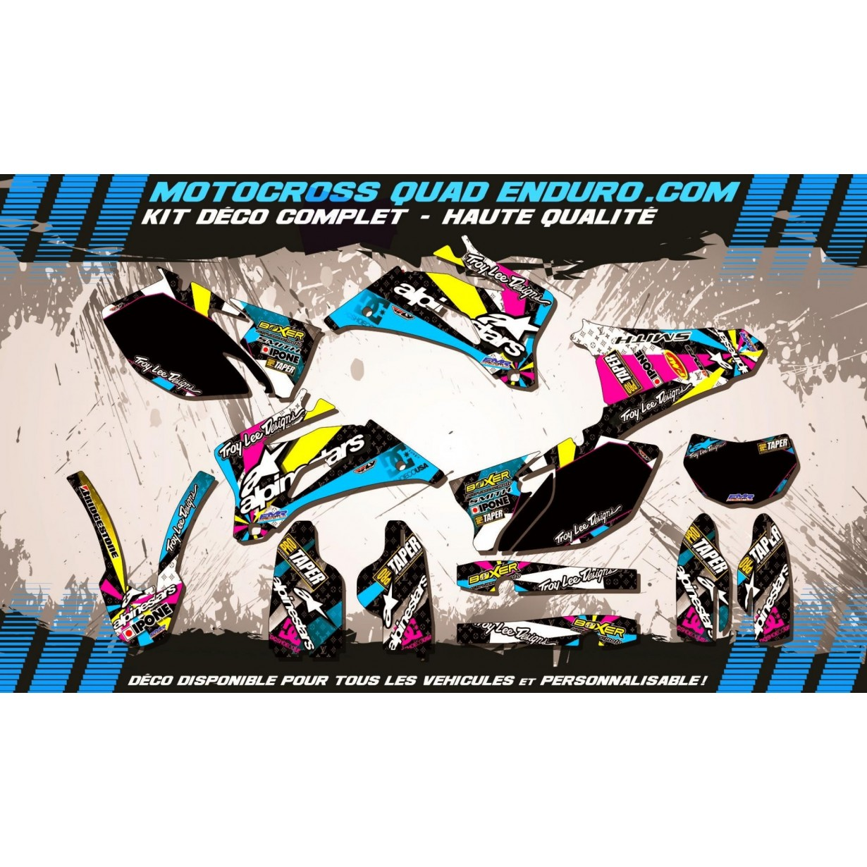 KIT DÉCO Perso 250 WRF 07-14 ROCKSTAR Energy MA16D