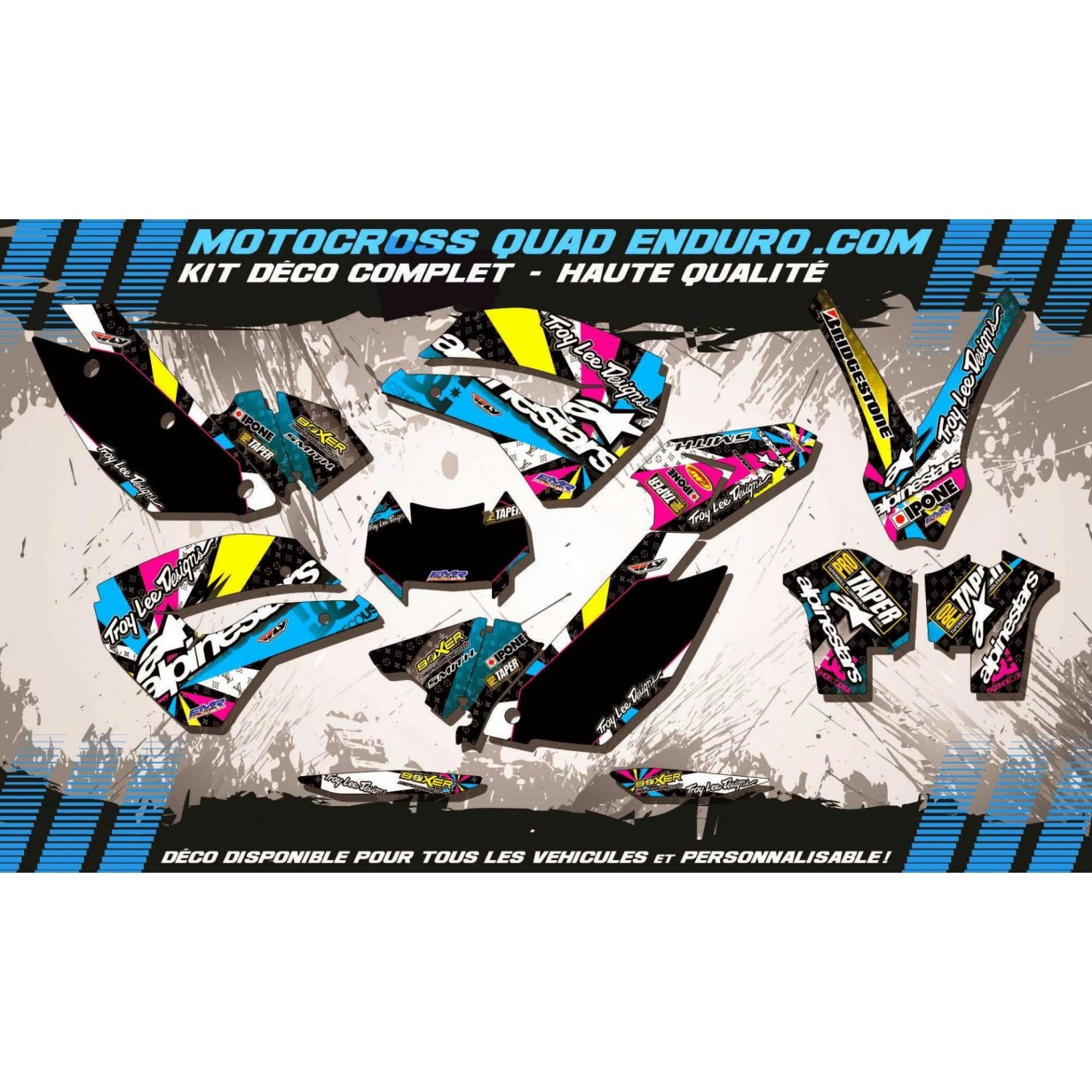 KIT DÉCO Perso FE 09-12 ALPINESTARS MA4A