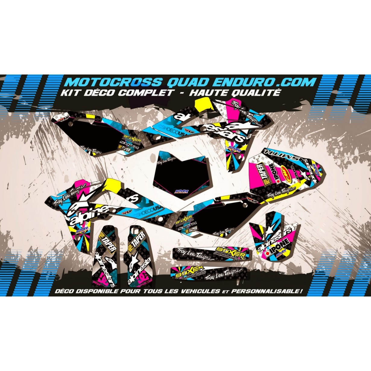 KIT DÉCO Perso CR 125 09-13 ALPINESTARS MA4A
