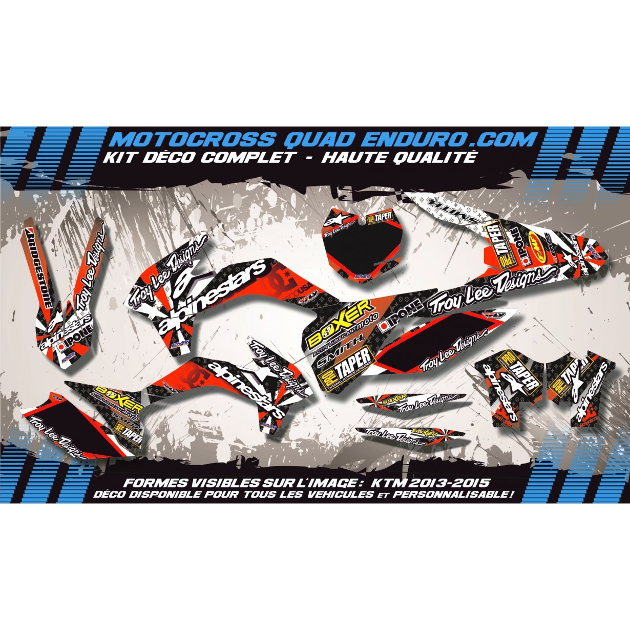 KIT DÉCO Perso 125 CR 98-99 ALPINESTAR MA4C