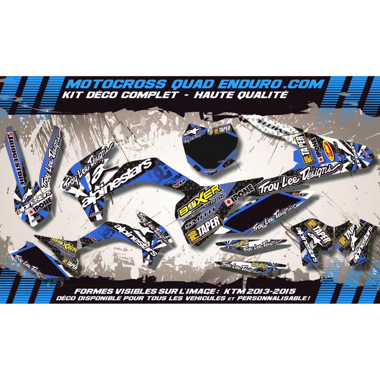 KIT DÉCO Perso CR-TC 125-250 00-04 ALPINESTARS MA4D