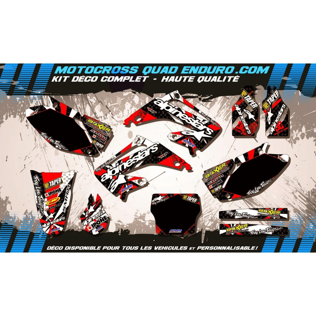 KIT DÉCO Perso 125-250 CR 02-07 ALPINESTARS MA4C