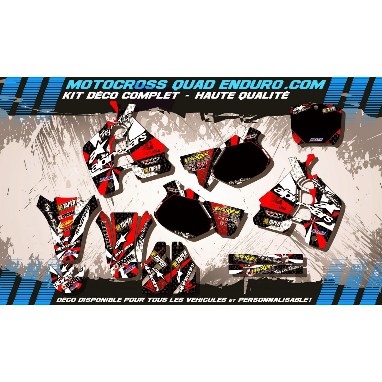 KIT DÉCO Perso 500 CR 91-01 ALPINESTARS MA4C
