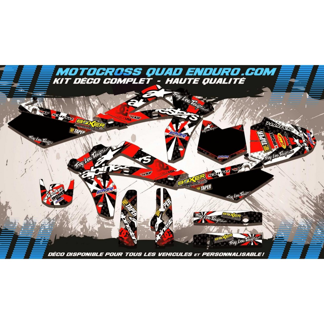 KIT DÉCO Perso CR 125 06-08 ALPINESTARS MA4C