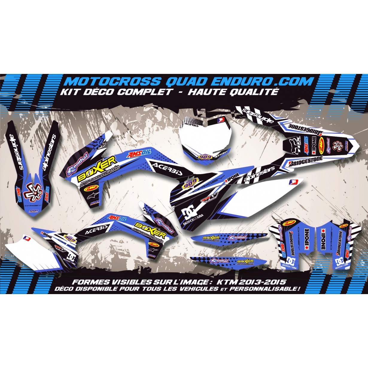 KIT DÉCO Perso CR-TC 125-250 00-04 BOXER MA1E