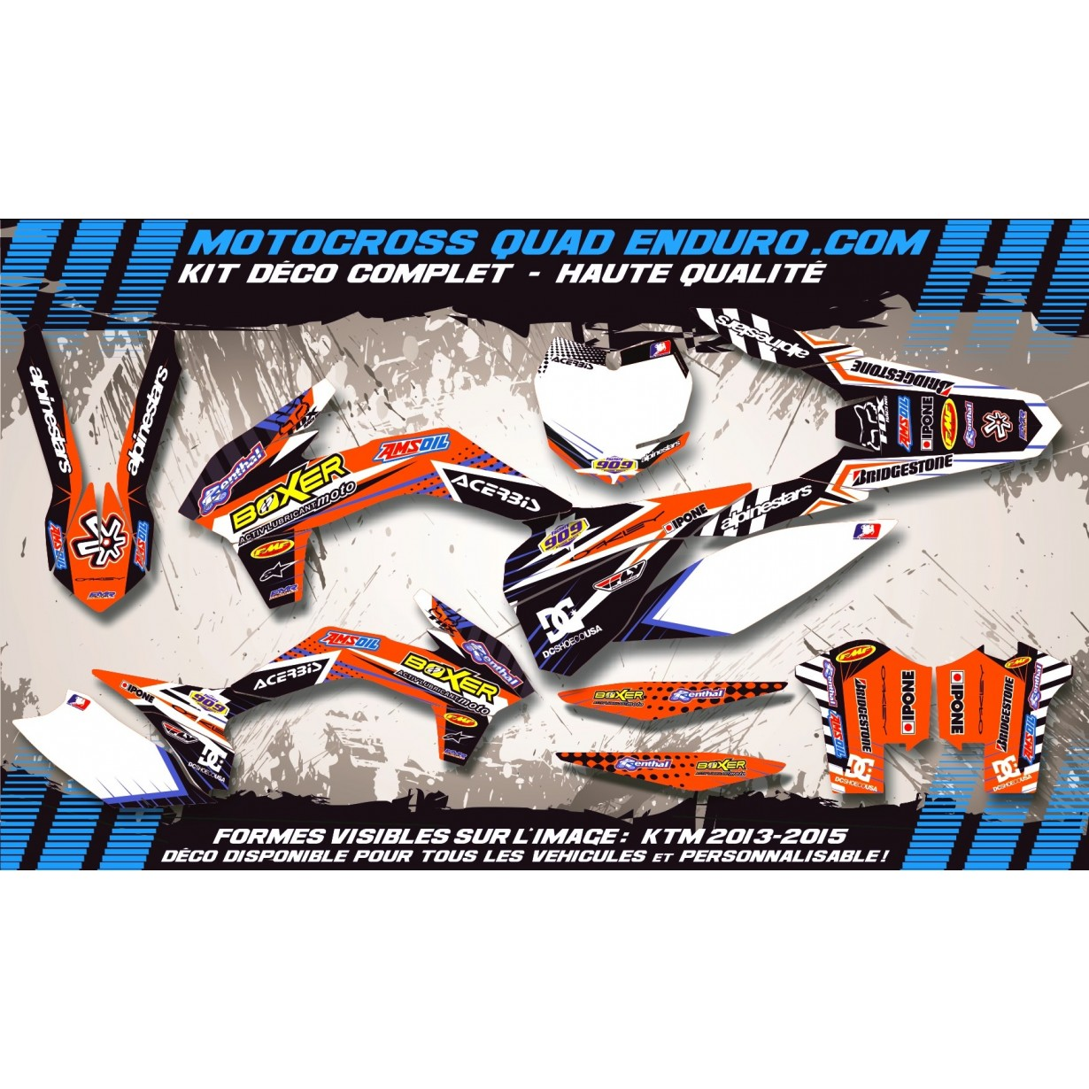 KIT DÉCO Perso EXC XC XCF 17-18 BOXER MA1C