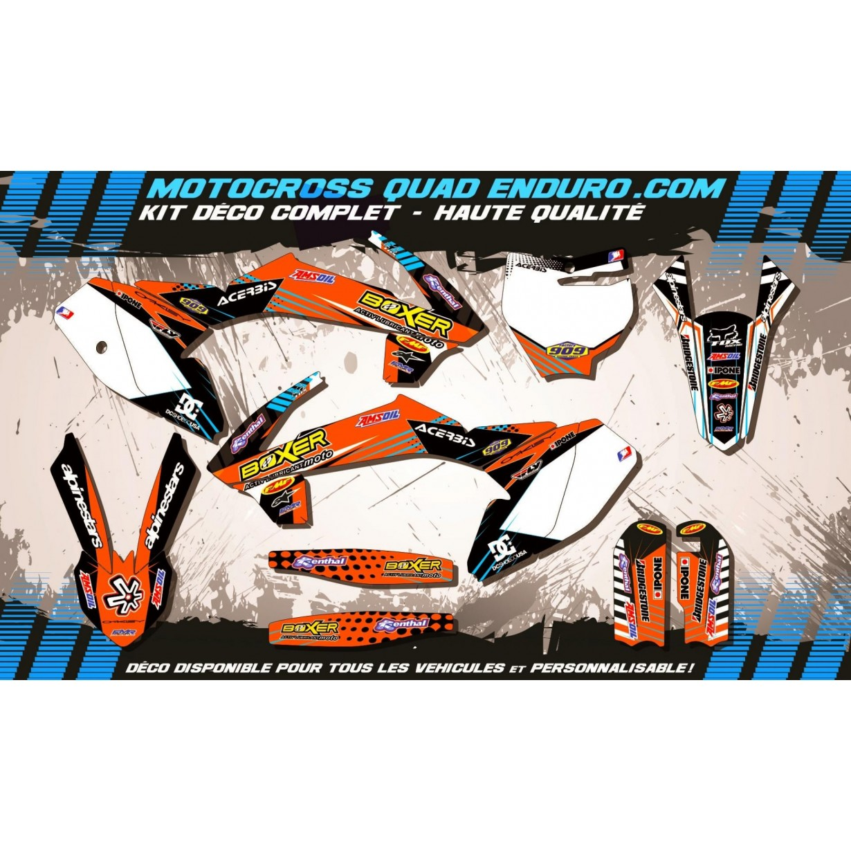 KIT DÉCO Perso 65 SX 16-17 DC Shoes MA14A