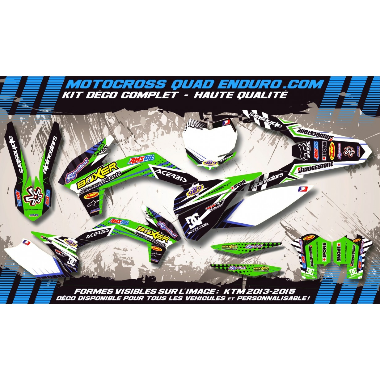 KIT DÉCO Perso 450 KXF 2012 BOXER MA1B