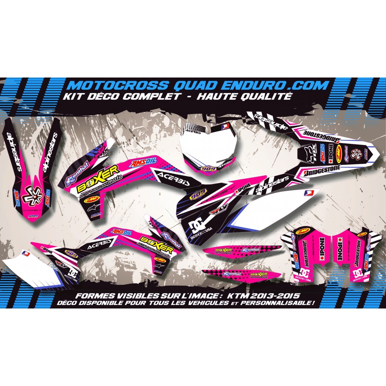 KIT DÉCO Perso 125 / 250 RM 96-98 BOXER MA1F