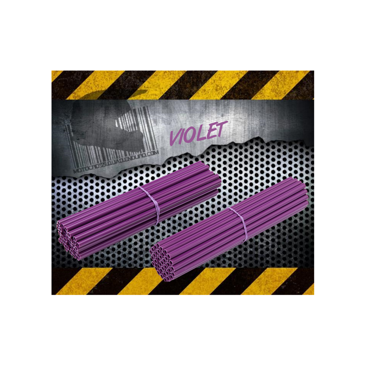 Couvres Rayons VIOLET Motocross toutes cylindrées
