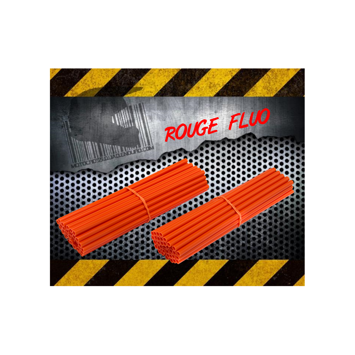 Couvres Rayons ROUGE FLUO Motocross toutes cylindrées