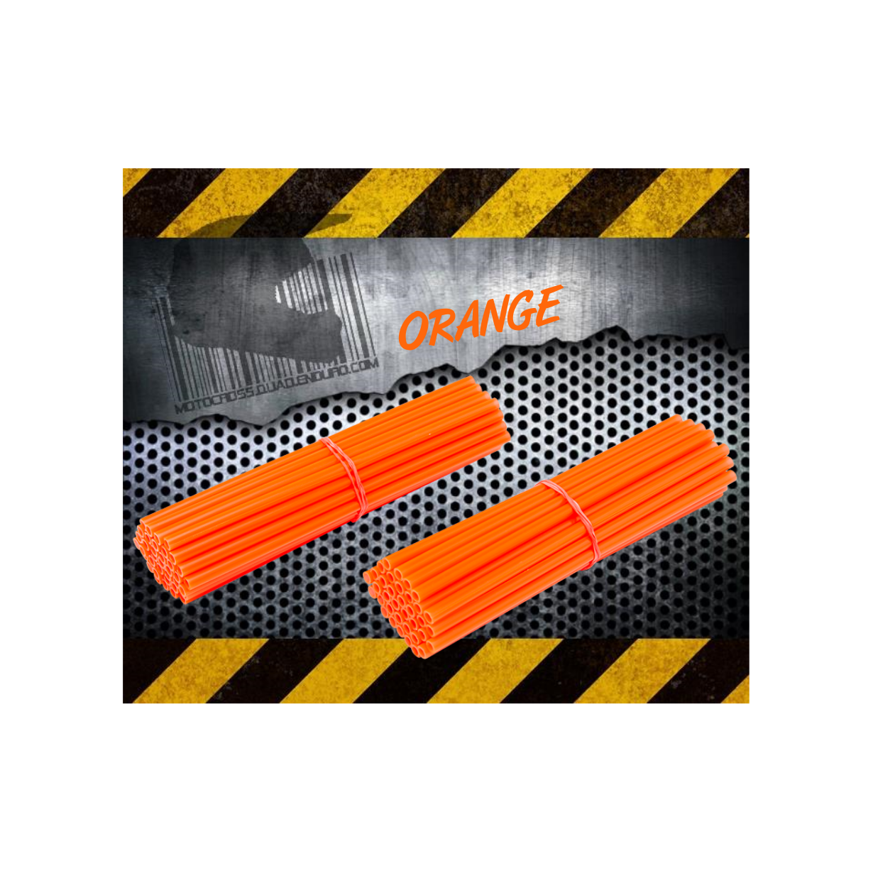 Couvres Rayons ORANGE Motocross toutes cylindrées