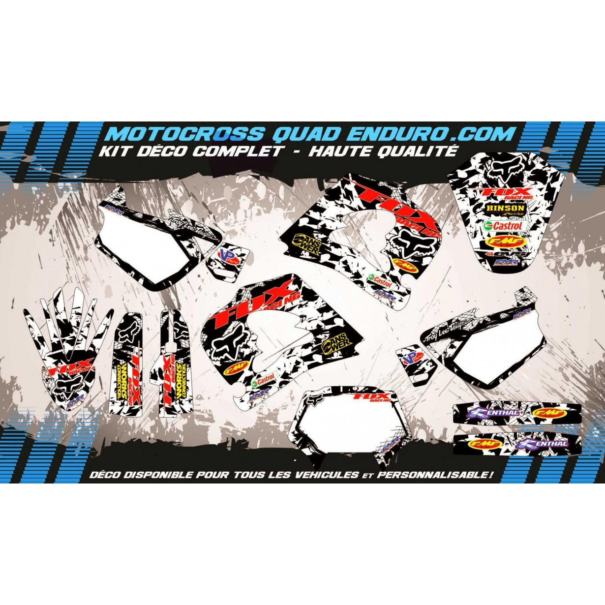 KIT DÉCO Perso HUSQVARNA CR 125-250 97-99 FOX MA9F