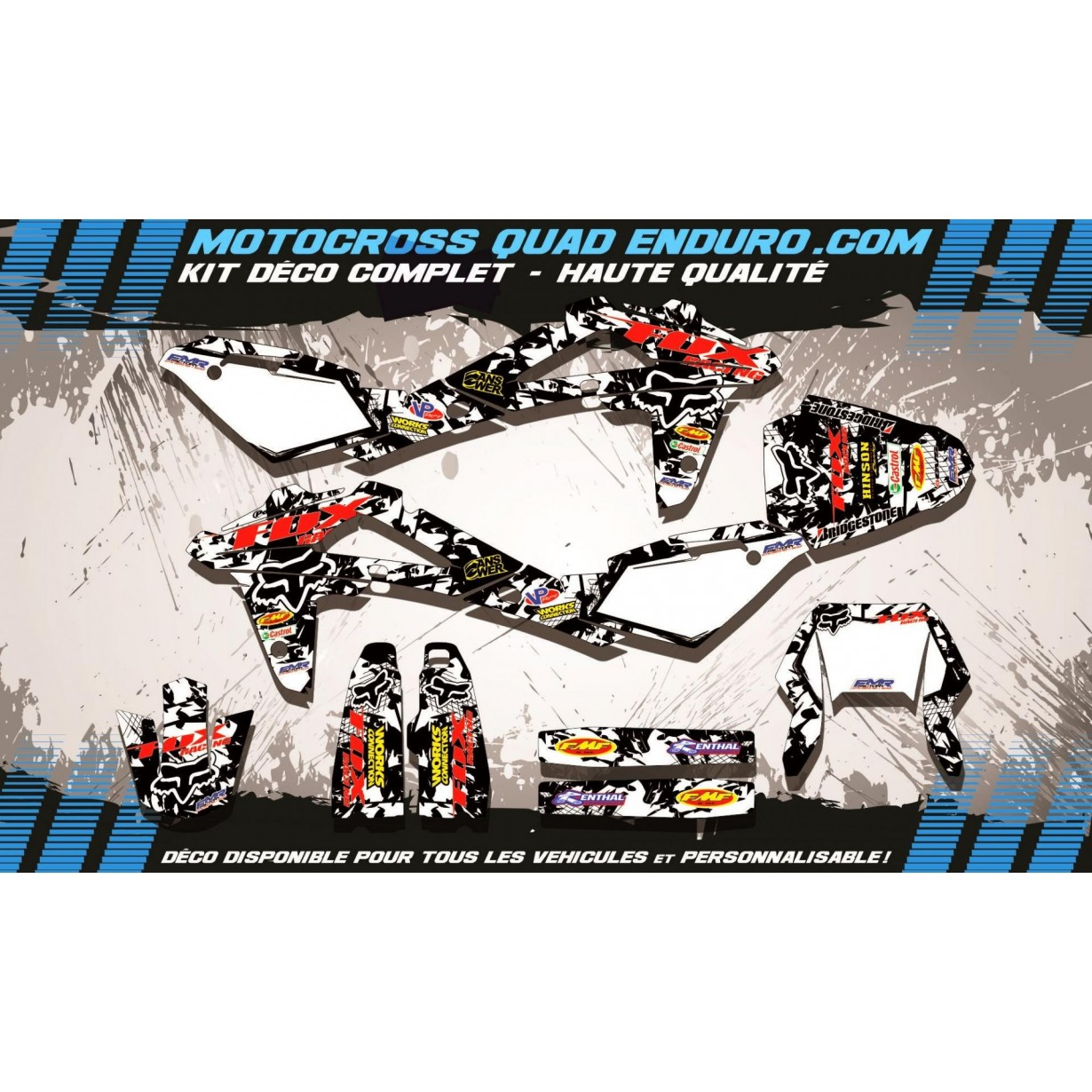 KIT DÉCO Perso WR 125 09-13 FOX MA9F