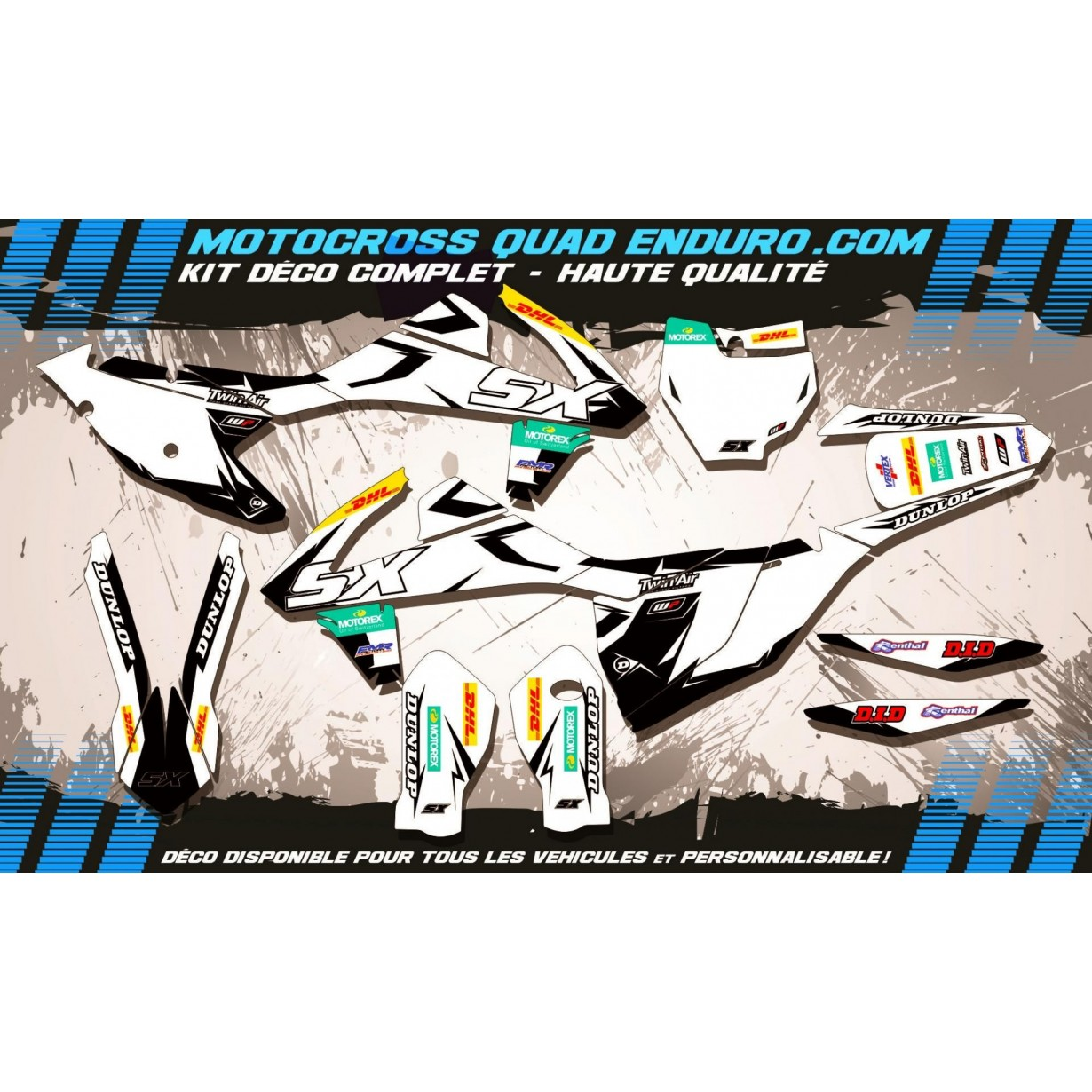 KIT DÉCO Perso SX-SXF 16-17 Factory White Edition MA10CW
