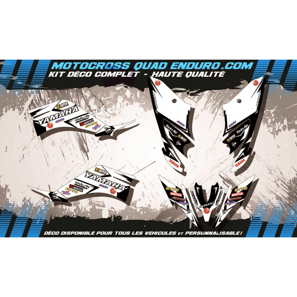 KIT DÉCO Perso 250 RAPTOR Quad Factory White Edition MA10EW