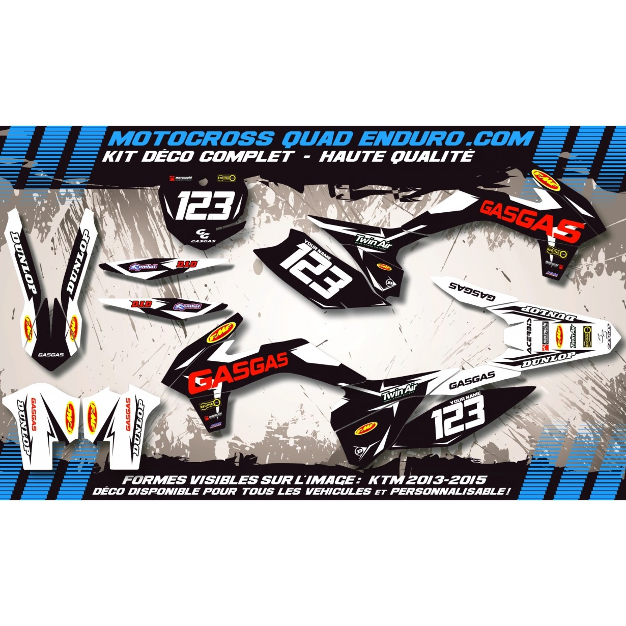 KIT DÉCO Perso EC 07-09 Factory Black Edition MA10HB