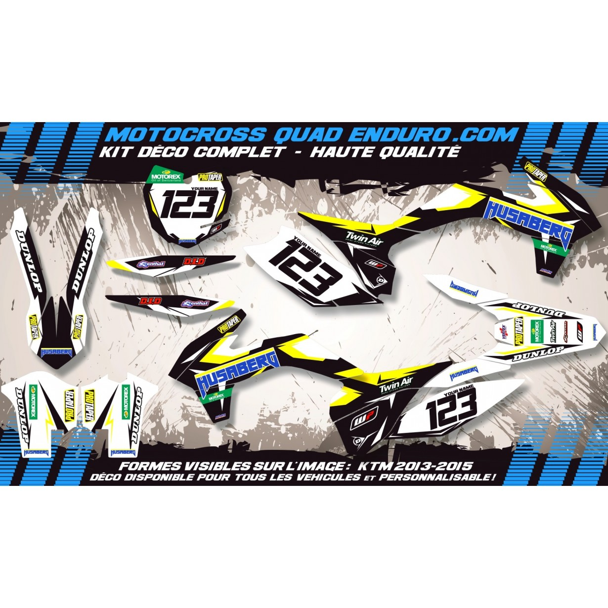 KIT DÉCO Perso FS 06-08 Factory Black Edition MA10IB