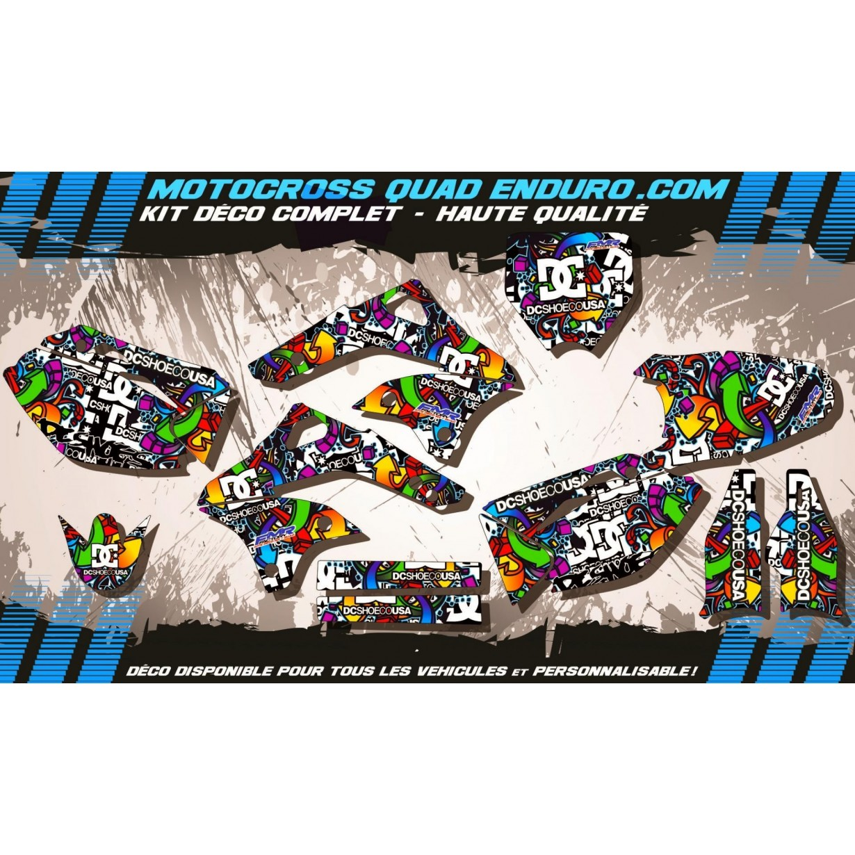 KIT DÉCO Perso 450 KXF 06-08 DC Shoes MA14A