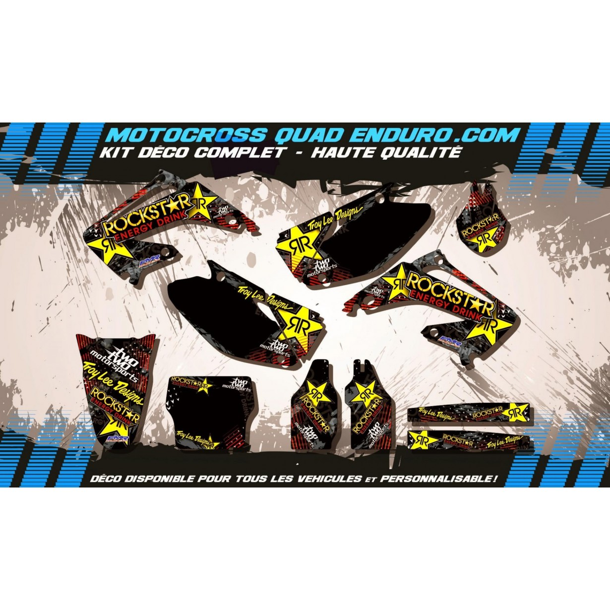 KIT DÉCO Perso 125-250 CR 02-07 ROCKSTAR Energy MA16A
