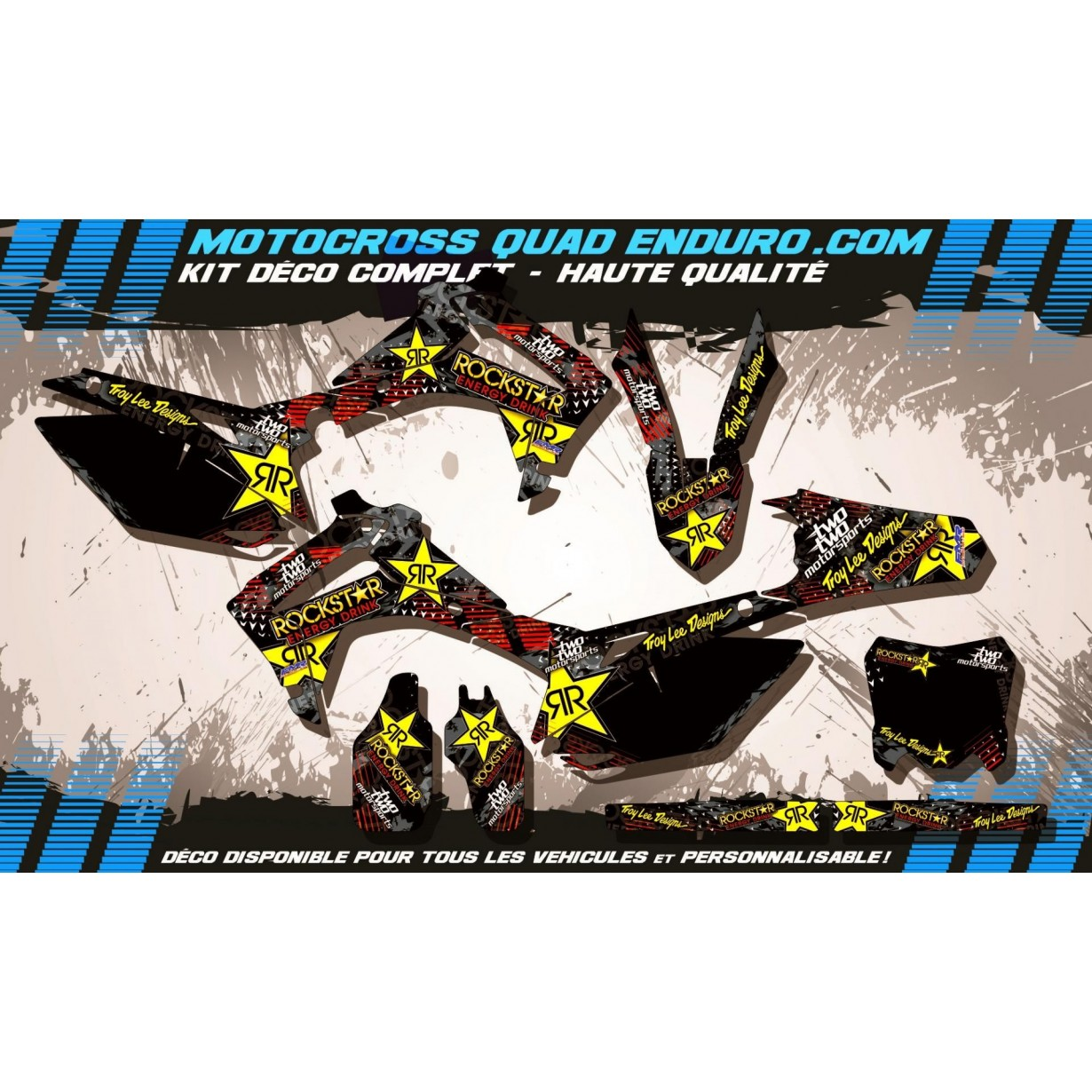 KIT DÉCO Perso 250 CRF 14-17 ROCKSTAR Energy MA16A