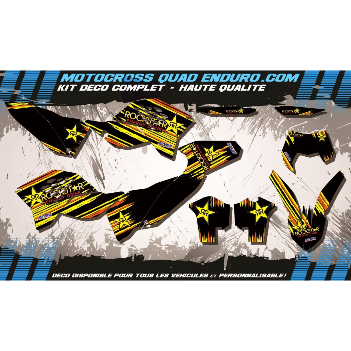 KIT DÉCO Perso EXC 08-11 ROCKSTAR MA6C