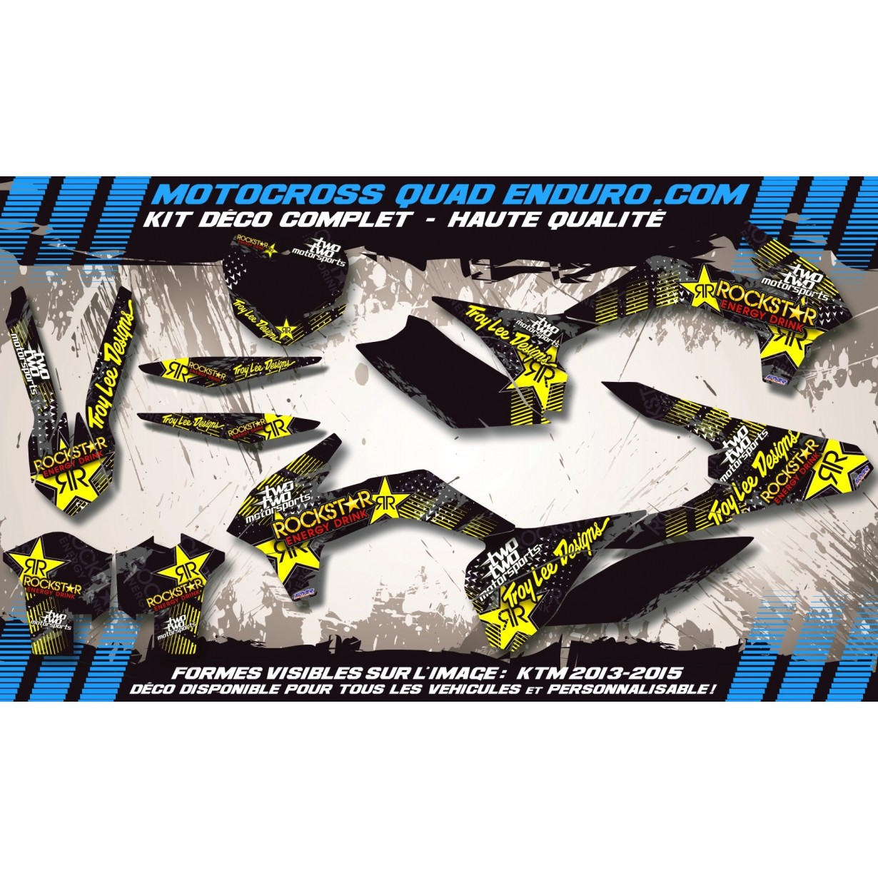 KIT DÉCO Perso 250 YZF 14-15 ROCKSTAR Energy MA16D