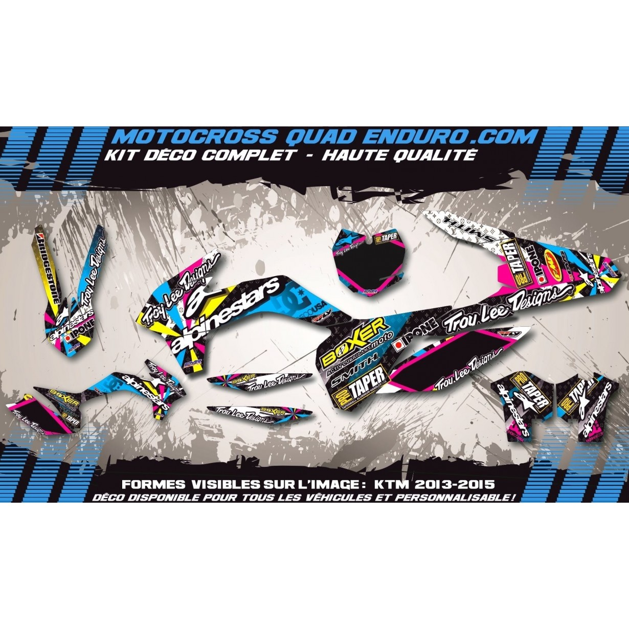 Kit deco Perso ALPINESTARS A4A tricolors