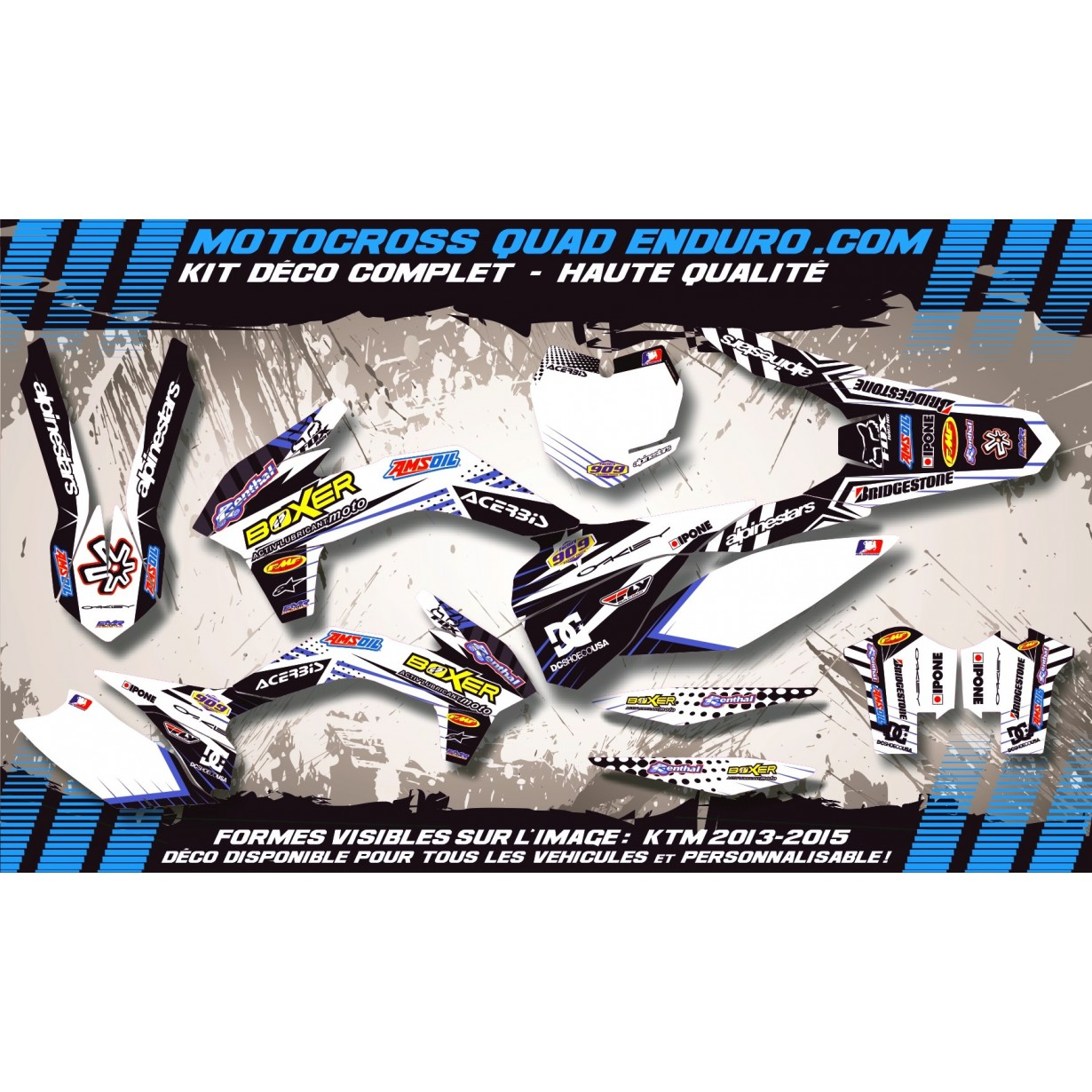 KIT DÉCO Perso CR-TC 125-250 00-04 BOXER MA1G