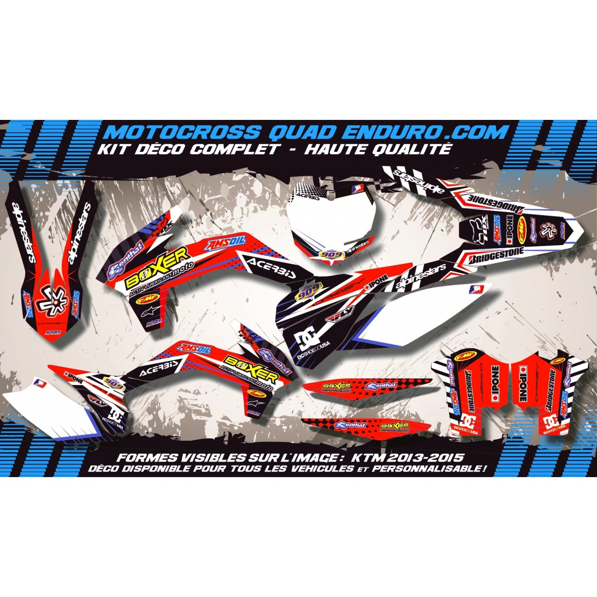 KIT DÉCO Perso CR 125 06-08 BOXER MA1A