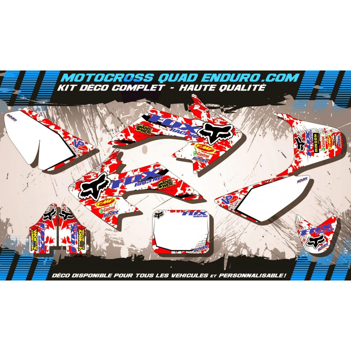 KIT DÉCO Perso 50 CRF 04-15 Fox MA9A