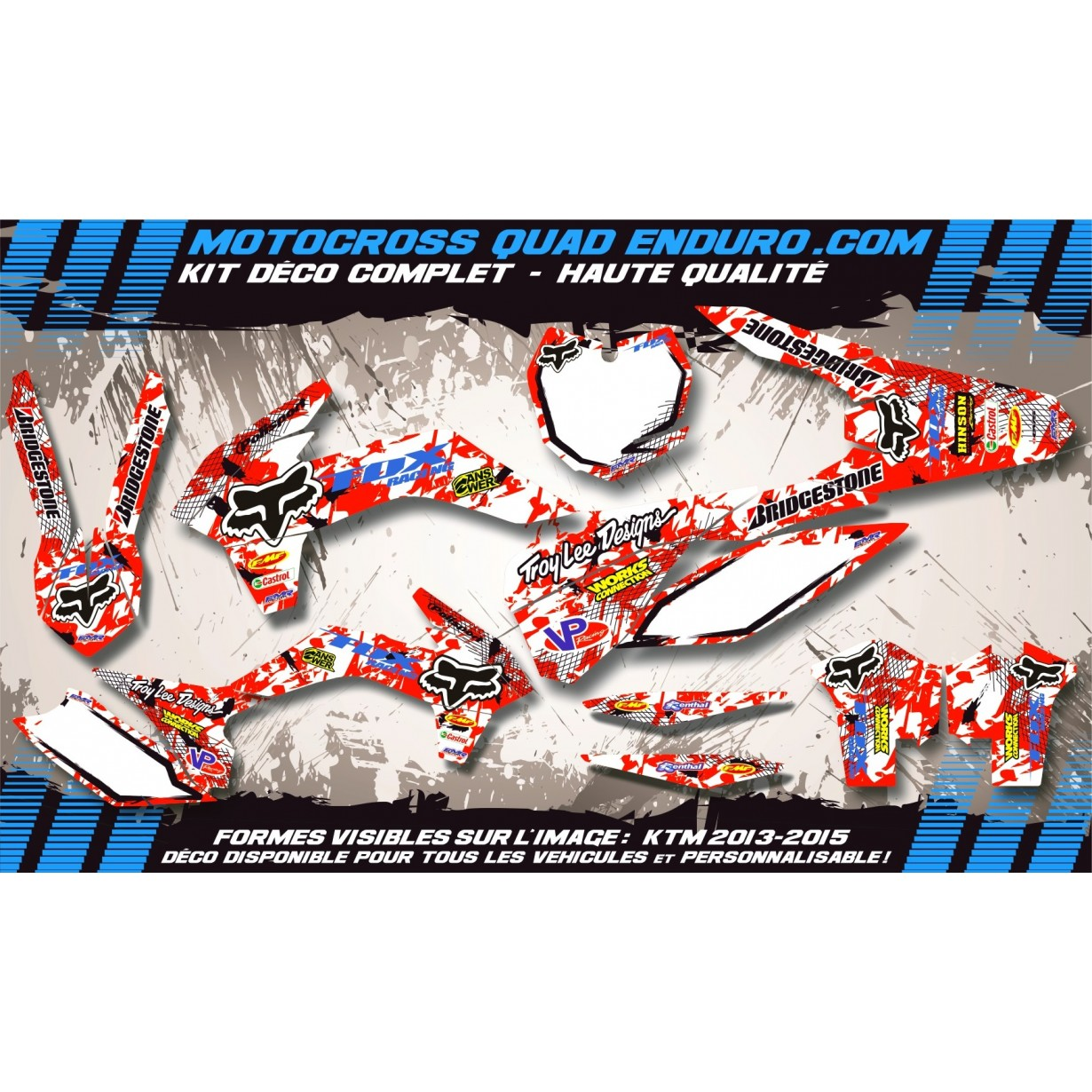 KIT DÉCO Perso 50 RR enduro 2007 FOX MA9A