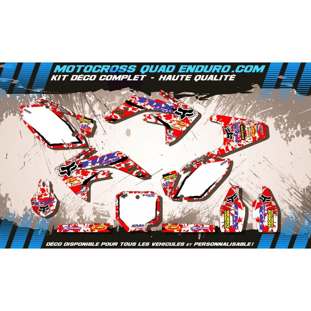KIT DÉCO Perso 150 CRF 07-15 FOX MA9A