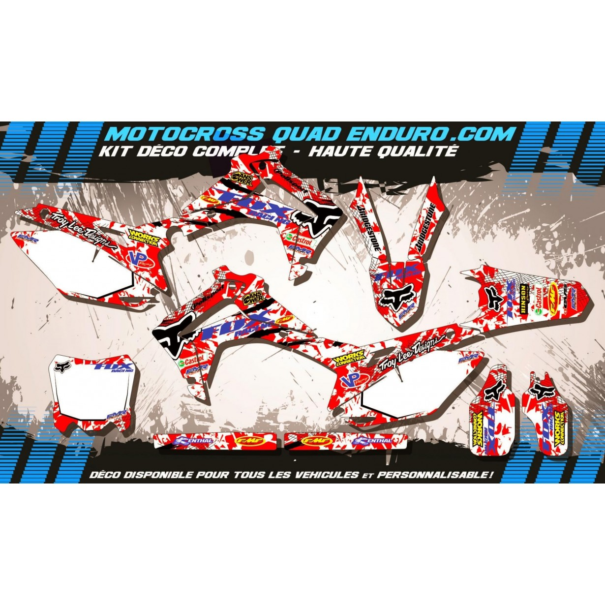 KIT DÉCO Perso 450 CRF 13-17 FOX MA9A