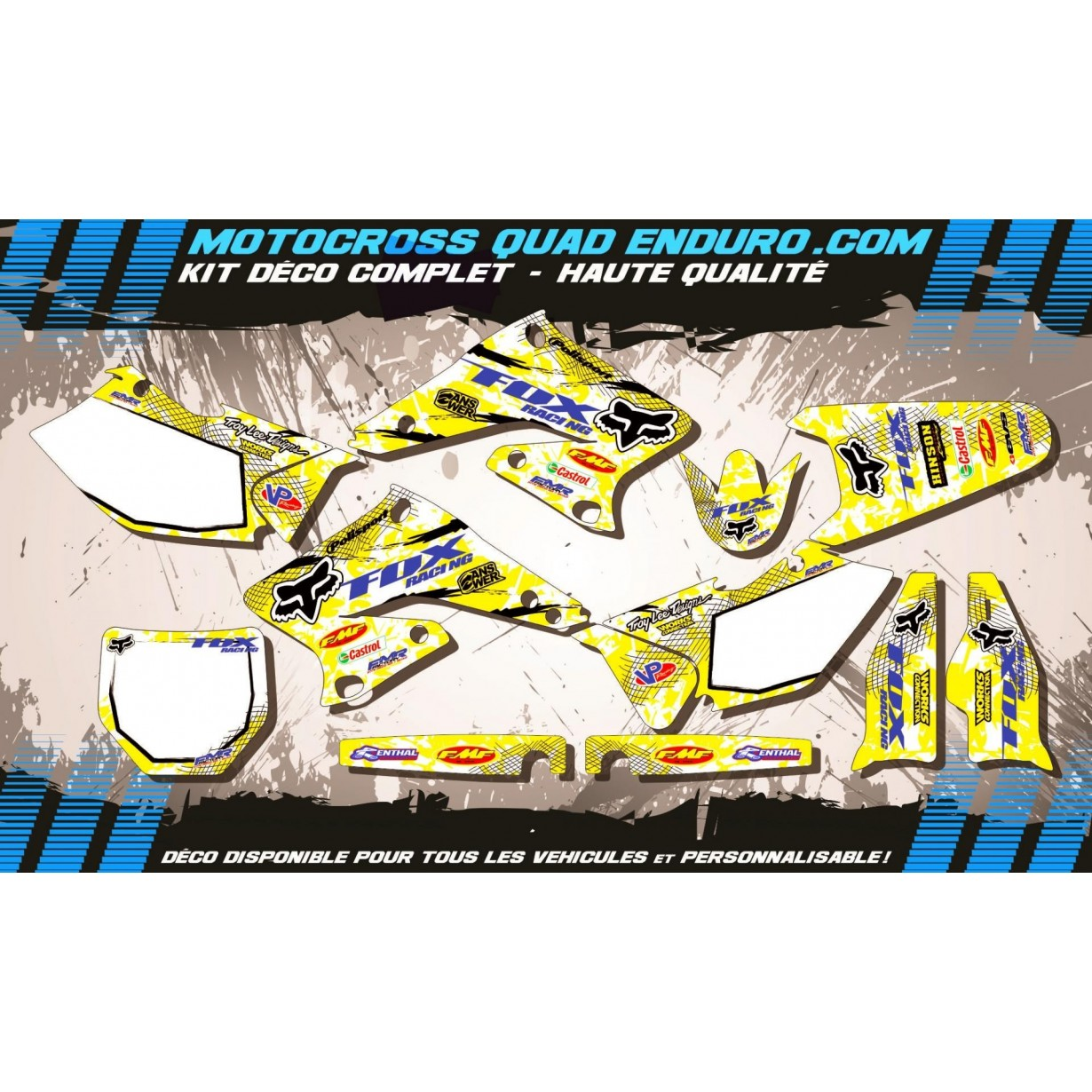 KIT DÉCO Perso 250 RMZ 04-06 FOX MA9D