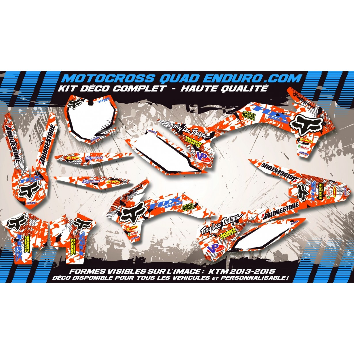 KIT DÉCO Perso 65 SX 09-15 FOX MA9C