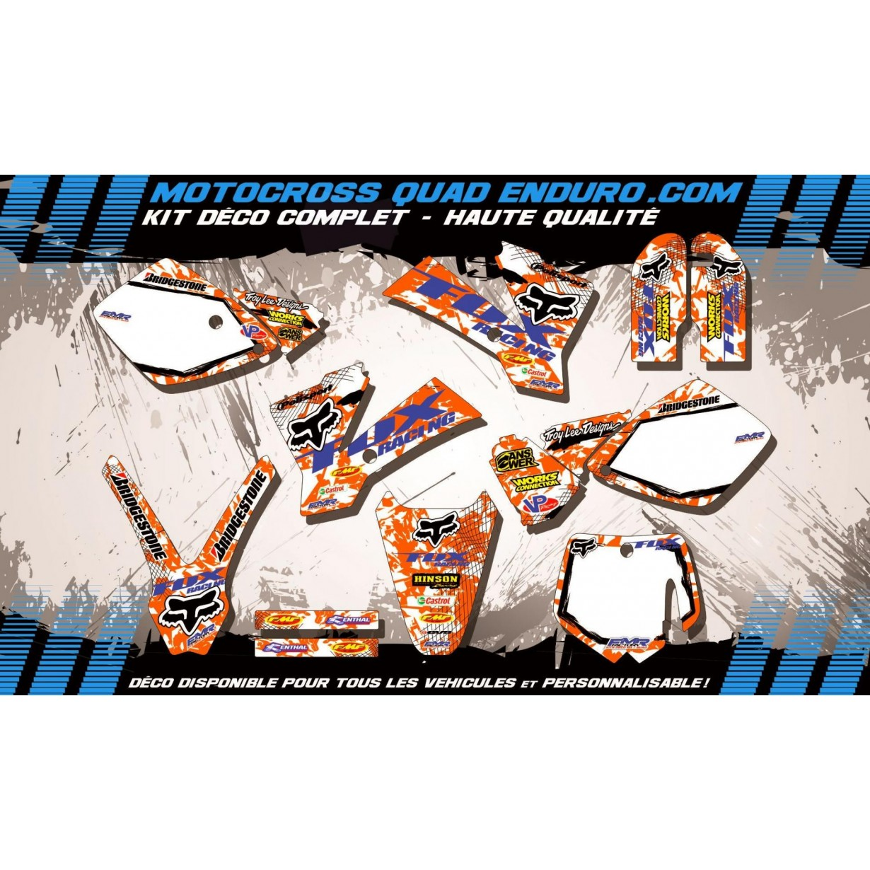 KIT DÉCO Perso 65 SX 01-08 FOX MA9C