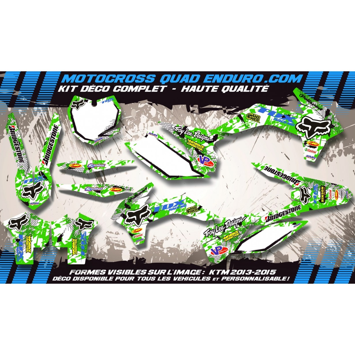 KIT DÉCO Perso 125 / 250 KX 90-91 FOX MA9B